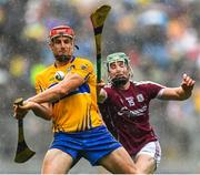 28 July 2018; John Conlon of Clare in action against Cathal Mannion of Galway during the GAA Hurling All-Ireland Senior Championship semi-final match between Galway and Clare at Croke Park in Dublin. Photo by David Fitzgerald/Sportsfile