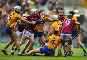 28 July 2018; Joe Canning of Galway in action against Tony Kelly of Clare during the GAA Hurling All-Ireland Senior Championship semi-final match between Galway and Clare at Croke Park in Dublin. Photo by David Fitzgerald/Sportsfile