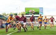 28 July 2018; Podge Collins of Clare in action against Aidan Harte of Galway during the GAA Hurling All-Ireland Senior Championship semi-final match between Galway and Clare at Croke Park in Dublin. Photo by David Fitzgerald/Sportsfile