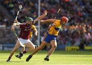 28 July 2018; Peter Duggan of Clare in action against Cathal Mannion of Galway during the GAA Hurling All-Ireland Senior Championship semi-final match between Galway and Clare at Croke Park in Dublin. Photo by Ray McManus/Sportsfile
