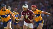 28 July 2018; Daithi Burke of Galway is tackled by John Conlon of Clare during the GAA Hurling All-Ireland Senior Championship semi-final match between Galway and Clare at Croke Park in Dublin. Photo by Ray McManus/Sportsfile