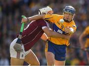 28 July 2018; Podge Collins of Clare is tackled by Daithi Burke of Galway during the GAA Hurling All-Ireland Senior Championship semi-final match between Galway and Clare at Croke Park in Dublin. Photo by Ray McManus/Sportsfile