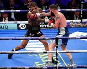 28 July 2018; Conor Benn, left, and Cedric Peynaud during their WBA Continental Welterweight Championship bout at The O2 Arena in London, England. Photo by Stephen McCarthy/Sportsfile