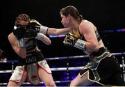 28 July 2018; Katie Taylor, right and Kimberly Connor during their WBA & IBF World Lightweight Championship bout at The O2 Arena in London, England. Photo by Stephen McCarthy/Sportsfile