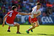 7 July 2018; Cathal McShane of Tyrone in action against Kevin Crowley of Cork during the GAA Football All-Ireland Senior Championship Round 4 between Cork and Tyrone at O'Moore Park in Portlaoise, Co. Laois. Photo by Brendan Moran/Sportsfile