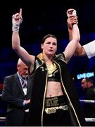 28 July 2018; Katie Taylor following her WBA & IBF World Lightweight Championship bout with Kimberly Connor at The O2 Arena in London, England. Photo by Stephen McCarthy/Sportsfile