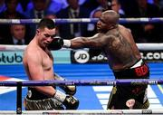 28 July 2018; Dillian Whyte, right, and Joseph Parker during their Heavyweight contest at The O2 Arena in London, England. Photo by Stephen McCarthy/Sportsfile