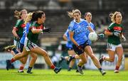 28 July 2018; Noelle Healy of Dublin in action against Noirin Moran of Mayo during the TG4 All-Ireland Ladies Football Senior Championship qualifier Group 1 Round 3 match between Dublin and Mayo at Dr Hyde Park in Roscommon. Photo by Brendan Moran/Sportsfile