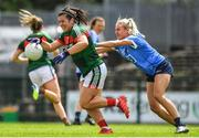 28 July 2018; Rachel Kearns of Mayo in action against Nicole Owens of Dublin during the TG4 All-Ireland Ladies Football Senior Championship qualifier Group 1 Round 3 match between Dublin and Mayo at Dr Hyde Park in Roscommon. Photo by Brendan Moran/Sportsfile