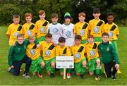29 July 2018; The Mullingar Athletic squad during Ireland's premier underaged soccer tournament, the Volkswagen Junior Masters. The competition sees U13 teams from around Ireland compete for the title and a €2,500 prize for their club, over the days of July 28th and 29th, at AUL Complex in Dublin. Photo by Seb Daly/Sportsfile