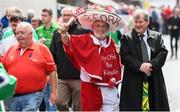 29 July 2018; Cork supporter Cyril Kavanagh with business man JP McManus prior to the GAA Hurling All-Ireland Senior Championship semi-final match between Cork and Limerick at Croke Park in Dublin. Photo by Stephen McCarthy/Sportsfile