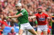29 July 2018; Cian Lynch of Limerick is tackled by Daniel Kearney of Cork during the GAA Hurling All-Ireland Senior Championship semi-final match between Cork and Limerick at Croke Park in Dublin. Photo by Ramsey Cardy/Sportsfile