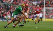 29 July 2018; Dan Morrissey of Limerick in action against Bill Cooper of Cork during the GAA Hurling All-Ireland Senior Championship semi-final match between Cork and Limerick at Croke Park in Dublin. Photo by Ray McManus/Sportsfile