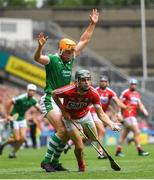 29 July 2018; Mark Coleman of Cork in action against Séamus Flanagan of Limerick during the GAA Hurling All-Ireland Senior Championship semi-final match between Cork and Limerick at Croke Park in Dublin. Photo by Ramsey Cardy/Sportsfile