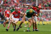 29 July 2018; Dan Morrissey of Limerick in action against Bill Cooper and Bill Cooper of Cork during the GAA Hurling All-Ireland Senior Championship semi-final match between Cork and Limerick at Croke Park in Dublin. Photo by Ray McManus/Sportsfile