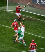29 July 2018; Cian Lynch of Limerick scores his side's first goal past Cork goalkeeper Anthony Nash during the GAA Hurling All-Ireland Senior Championship semi-final match between Cork and Limerick at Croke Park in Dublin. Photo by Brendan Moran/Sportsfile