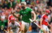 29 July 2018; Cian Lynch of Limerick celebrates scoring his side's first goal late in the first half during the GAA Hurling All-Ireland Senior Championship semi-final match between Cork and Limerick at Croke Park in Dublin. Photo by Piaras Ó Mídheach/Sportsfile