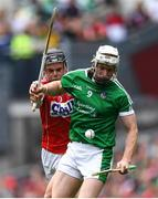 29 July 2018; Cian Lynch of Limerick in action against Darragh Fitzgibbon of Cork during the GAA Hurling All-Ireland Senior Championship semi-final match between Cork and Limerick at Croke Park in Dublin. Photo by Ramsey Cardy/Sportsfile