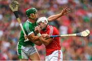 29 July 2018; Pat Horgan of Cork in action against Seán Finn of Limerick during the GAA Hurling All-Ireland Senior Championship semi-final match between Cork and Limerick at Croke Park in Dublin. Photo by Piaras Ó Mídheach/Sportsfile