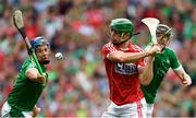 29 July 2018; Séamus Harnedy of Cork in action against Mike Casey, left, and Declan Hannon of Limerick during the GAA Hurling All-Ireland Senior Championship semi-final match between Cork and Limerick at Croke Park in Dublin. Photo by Piaras Ó Mídheach/Sportsfile