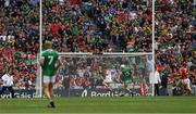 29 July 2018; Aaron Gillane, 13, of Limerick shoots past the Cork goalkeeper Anthony Nash to score a point in the 2nd minute of extra time during the GAA Hurling All-Ireland Senior Championship semi-final match between Cork and Limerick at Croke Park in Dublin. Photo by Ray McManus/Sportsfile