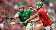 29 July 2018; Eoin Cadogan of Cork in action against Shane Dowling of Limerick during the GAA Hurling All-Ireland Senior Championship semi-final match between Cork and Limerick at Croke Park in Dublin. Photo by Stephen McCarthy/Sportsfile