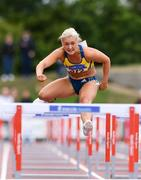 29 July 2018; Sarah Lavin of U.C.D. A.C., Co. Dublin, right, on her way to winning the Senior Women 100mH event during the Irish Life Health National Senior T&F Championships Day 2 at Morton Stadium in Santry, Dublin. Photo by Sam Barnes/Sportsfile