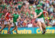 29 July 2018; Shane Dowling of Limerick shoots to score his side's second goal, from a penalty, during the GAA Hurling All-Ireland Senior Championship semi-final match between Cork and Limerick at Croke Park in Dublin. Photo by Stephen McCarthy/Sportsfile