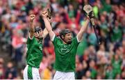 29 July 2018; Pat Ryan celebrates after scoring his side's third goal alongside his Limerick team-mate Peter Casey, right, on during the GAA Hurling All-Ireland Senior Championship semi-final match between Cork and Limerick at Croke Park in Dublin. Photo by Stephen McCarthy/Sportsfile