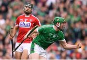 29 July 2018; Shane Dowling of Limerick celebrates after scoring his side's second goal, from a penalty, during the GAA Hurling All-Ireland Senior Championship semi-final match between Cork and Limerick at Croke Park in Dublin. Photo by Stephen McCarthy/Sportsfile