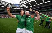 29 July 2018; Dan Morrissey, left, and Cian Lynch of Limerick celebrate following the GAA Hurling All-Ireland Senior Championship semi-final match between Cork and Limerick at Croke Park in Dublin. Photo by Stephen McCarthy/Sportsfile