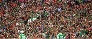 29 July 2018; A section of supporters, predominately Limerick, watch the game from their seats in the Hogan Stand during the GAA Hurling All-Ireland Senior Championship semi-final match between Cork and Limerick at Croke Park in Dublin. Photo by Ray McManus/Sportsfile