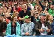 29 July 2018; Limerick supporters react during the closing moments of the GAA Hurling All-Ireland Senior Championship semi-final match between Cork and Limerick at Croke Park in Dublin. Photo by Stephen McCarthy/Sportsfile