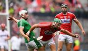 29 July 2018; Eoin Cadogan of Cork in action against Aaron Gillane of Limerick during the GAA Hurling All-Ireland Senior Championship semi-final match between Cork and Limerick at Croke Park in Dublin. Photo by Stephen McCarthy/Sportsfile