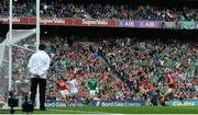 29 July 2018; Pat Ryan of Limerick shoots to score his side's third goal past Cork goalkeeper Anthony Nash during the GAA Hurling All-Ireland Senior Championship semi-final match between Cork and Limerick at Croke Park in Dublin. Photo by Stephen McCarthy/Sportsfile