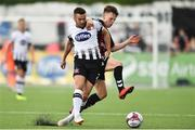 29 July 2018; Michael Duffy of Dundalk  in action against Andy Lyons of Bohemians  during the SSE Airtricity League Premier Division match between Dundalk and Bohemians at Oriel Park in Dundalk, Co Louth. Photo by Oliver McVeigh/Sportsfile