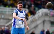 29 July 2018; Padraig Maher of Brow Rangers A.C., Co. Kilkenny competing in the Senior Men Weight for Distance event during the Irish Life Health National Senior T&F Championships Day 2 at Morton Stadium in Santry, Dublin. Photo by Sam Barnes/Sportsfile