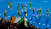 29 July 2018; Ireland players acknowledge the crowd on a lap of honour after the Women's Hockey World Cup Finals Group B match between England and Ireland at Lee Valley Hockey Centre, QE Olympic Park in London, England. Photo by Craig Mercer/Sportsfile