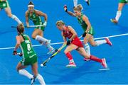 29 July 2018; Alex Danson of England holds off the challenge of Chloe Watkins of Ireland during the Women's Hockey World Cup Finals Group B match between England and Ireland at Lee Valley Hockey Centre, QE Olympic Park in London, England. Photo by Craig Mercer/Sportsfile
