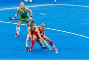 29 July 2018; Alex Danson of England under pressure from Shirley McCay of Ireland during the Women's Hockey World Cup Finals Group B match between England and Ireland at Lee Valley Hockey Centre, QE Olympic Park in London, England. Photo by Craig Mercer/Sportsfile