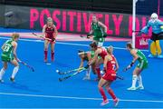 29 July 2018; Elena Tice of Ireland makes an interception during the Women's Hockey World Cup Finals Group B match between England and Ireland at Lee Valley Hockey Centre, QE Olympic Park in London, England. Photo by Craig Mercer/Sportsfile