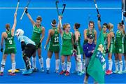 29 July 2018; Ireland players acknowledge the crowd before the Women's Hockey World Cup Finals Group B match between England and Ireland at Lee Valley Hockey Centre, QE Olympic Park in London, England. Photo by Craig Mercer/Sportsfile