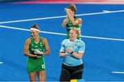 29 July 2018; Ayeisha McFerran and Elena Tice of Ireland acknowledge the crowd after the Women's Hockey World Cup Finals Group B match between England and Ireland at Lee Valley Hockey Centre, QE Olympic Park in London, England. Photo by Craig Mercer/Sportsfile