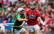 29 July 2018; Mark Coleman of Cork is tackled by Aaron Gillane of Limerick during the GAA Hurling All-Ireland Senior Championship semi-final match between Cork and Limerick at Croke Park in Dublin. Photo by Ramsey Cardy/Sportsfile