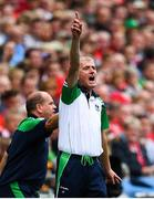 29 July 2018; Limerick manager John Kiely during the GAA Hurling All-Ireland Senior Championship semi-final match between Cork and Limerick at Croke Park in Dublin. Photo by Ramsey Cardy/Sportsfile