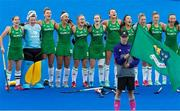 29 July 2018; Ireland players during National Anthem prior to the Women's Hockey World Cup Finals Group B match between England and Ireland at Lee Valley Hockey Centre, QE Olympic Park in London, England. Photo by Craig Mercer/Sportsfile