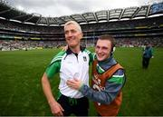 29 July 2018; Limerick manager John Kiely and Alan Feely following the GAA Hurling All-Ireland Senior Championship semi-final match between Cork and Limerick at Croke Park in Dublin. Photo by Stephen McCarthy/Sportsfile