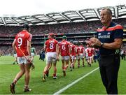 29 July 2018; Cork manager John Meyler during the GAA Hurling All-Ireland Senior Championship semi-final match between Cork and Limerick at Croke Park in Dublin. Photo by Stephen McCarthy/Sportsfile