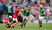 29 July 2018; Michael Lacey, Ballinakill National School, Laois, representing Limerick, during the INTO Cumann na mBunscol GAA Respect Exhibition Go Games at the GAA Hurling All-Ireland Senior Championship semi-final match between Cork and Limerick at Croke Park in Dublin. Photo by Stephen McCarthy/Sportsfile