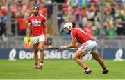 29 July 2018; Patrick Horgan of Cork scores the last point of the second half, from a free, to send the game to extra-time during the GAA Hurling All-Ireland Senior Championship semi-final match between Cork and Limerick at Croke Park in Dublin. Photo by Piaras Ó Mídheach/Sportsfile